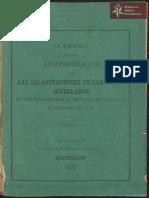 """La Historia de una Administración, las Dilapidaciones de Salvador Jovellanos, Asunción año 1877 Imp. """"La Reforma"""""""