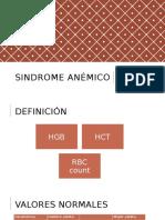 Sindrome anémico