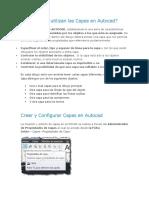 Crear y Configurar Capas en Autocad