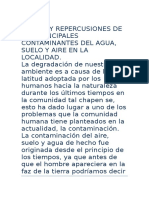 Origen y Repercusiones de Los Principales Contaminantes Del Agu1