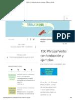 150 Phrasal Verbs Con Traducción y Ejemplos - El Blog de Idiomas