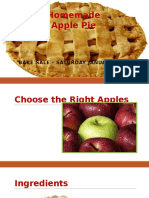 Lab 2-1 Homemade Apple Pie