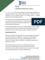 LCCI002 Certificate in ICT Practical Skills