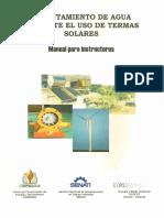 Calentamiento de Agua Mediante El Uso de Termas Solares, Manual Para Instructores
