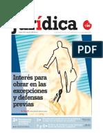 06 - Interes Para Obrar en Las Excepciones y Defensas Previas - Gerardo Sanchez-porturas Ganoza