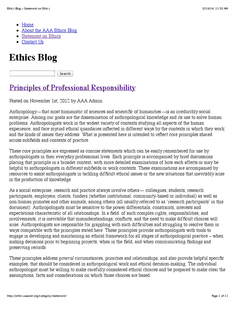 AAA Ethics Blog | Anthropology | Informed Consent