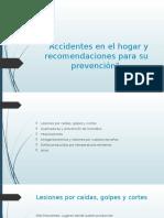 Accidentes en El Hogar y Recomendaciones Para
