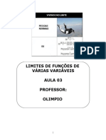 Aula 03 Limites de Funções de Várias Variáveis