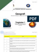 Dokumen Standard Kurikulum Dan Pentaksiran Geografi Ting 1 2017