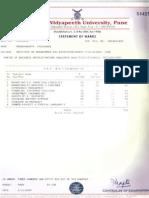 BHARATI VIDYAPEETH MARK SHEET 3