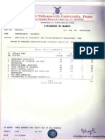 BHARATI VIDYAPEETH MARK SHEET 2