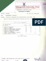 BHARATI VIDYAPEETH MARK SHEET 1