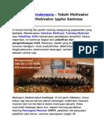 Motivator Indonesia, Tokoh Motivator Dunia, Motivator Ippho Santosa