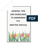 General Tips for Written PT3