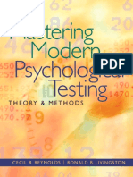 Mastering Modern Psychological Testing - Theory and Methods (2012)