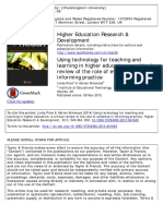 Using Technology for Teaching and Learning in Higher Educationa Critical Review of the Role of Evidence in Informing Practice