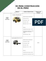 Volquetes Para Construcción en El Perú