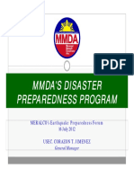 Mmda 1_briefing on Disaster Preparedness Program - Usec Jimenez