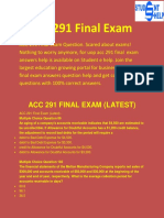 ACC 291 Final Exam-ACC 291 Final Exam Questions And Answers | Studentehelp