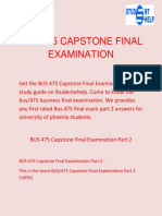 Student E Help | BUS 475 Capstone Final Examination Part 2 Questions with answers