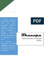 Thunupa Redescubriendo a La Deidad Andina