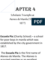 Chapter 4 Scholastic Triumphs in Ateneo