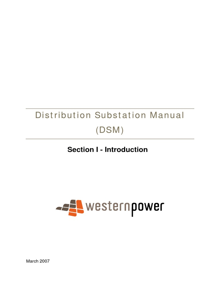 distribution substation manual introduction electrical substation rh scribd com Utility Substation horizon power distribution substation manual
