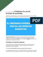 El fenómeno Pokémon Go, nos da lecciones de marketing Go