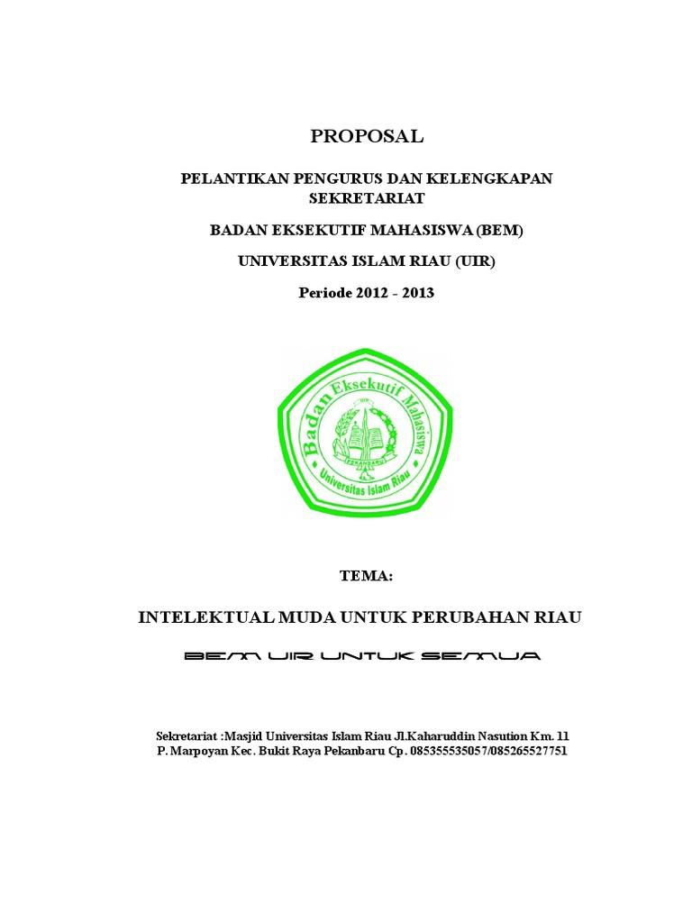Proposal Cover Bem