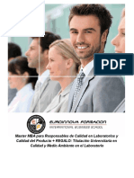 Master MBA para Responsables de Calidad en Laboratorios y Calidad del Producto + REGALO