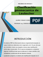 Clasificacion Geomecanica de Laubscher Corregida