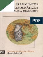 Bernabe Alberto - Fragmentos Presocraticos de Tales a Democrito