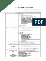 Practical Student Ojt Schedule