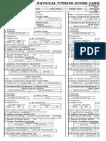Pft Score Card Latest