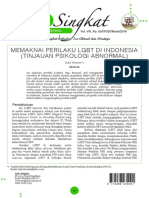 Memaknai Perilaku LGBT di Indonesia (Tinjauan Psikologi Abnormal)