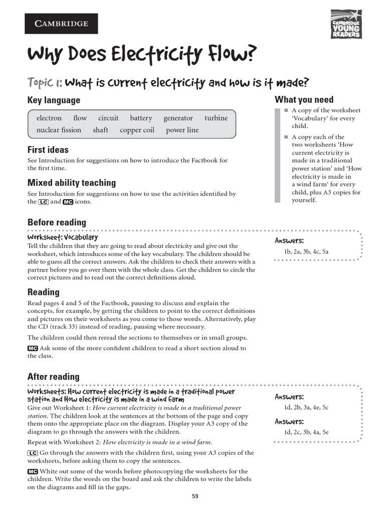 Worksheets Electricity Worksheet cambridge electricity worksheets electric charge battery electricity