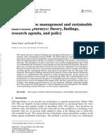 2. Schot and Geels - Strategic Niche Management, TASM