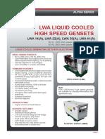 10611 TDS LWA High Speed Genset