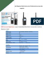 BelFone DMR Commercial Digital Migration Radio Series Ad on Professional Two Way Radio Magazine