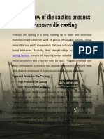 An Overview of Die Casting Process – Pressure Die Casting
