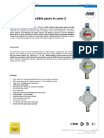 MSR PX2-2-X-I3400-A Methane Gas Sensor Transmitter for Hazardous Area