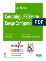 Comparing UPS System Design Configuration