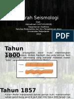 SEJARAH SEISMOLOGI