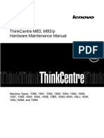 Lenovo ThinkCentre M83 M93 M93p Hardware Maintenance Manual