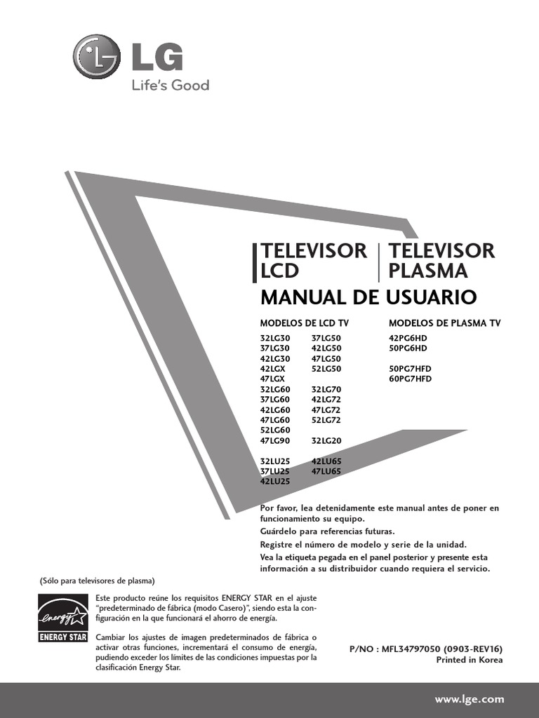 manual tv lg 32