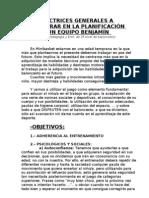 Planificacion Para Los Benjamines Del c