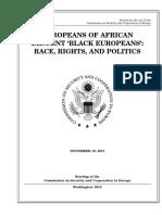 SENATE HEARING, 113TH CONGRESS - EUROPEANS OF AFRICAN DESCENT `BLACK EUROPEANS'