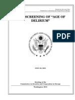 """SENATE HEARING, 113TH CONGRESS - FILM SCREENING OF """"AGE OF DELIRIUM"""""""