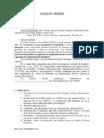2007 - Esquema Licitação - Atual - Prof. Sandro Bernardes
