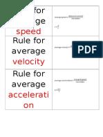 Physics Rules Flashcards